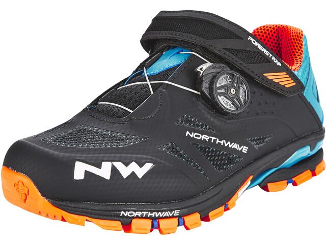 Northwave Spider Plus 2 Chaussures Homme, black/green/orange